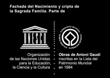 Fachada de nacimiento y cripta de la Sagrada Familia.